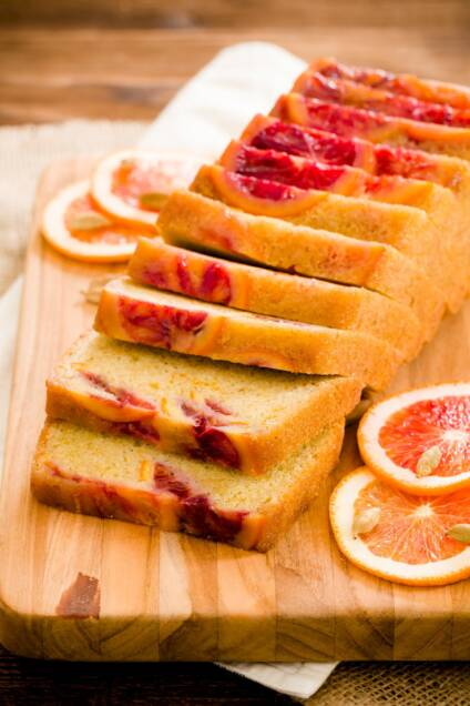 Blood Orange and Cardamom Olive Oil Pound Cake