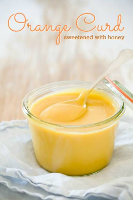 Orange Curd Sweetened With Honey