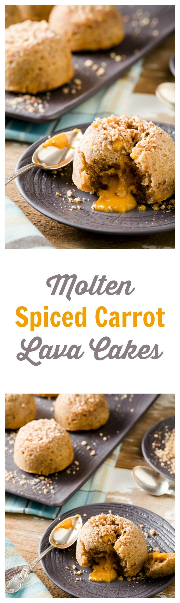 Spiced Carrot Lava Cakes