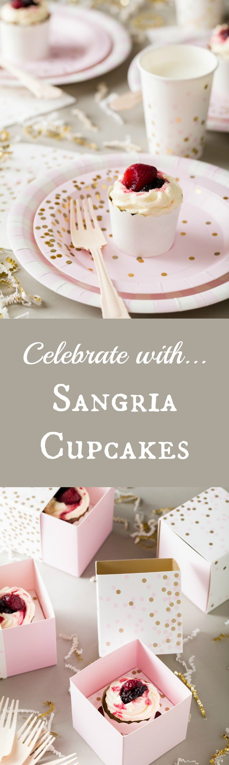 Celebrate with Sangria Cupcakes