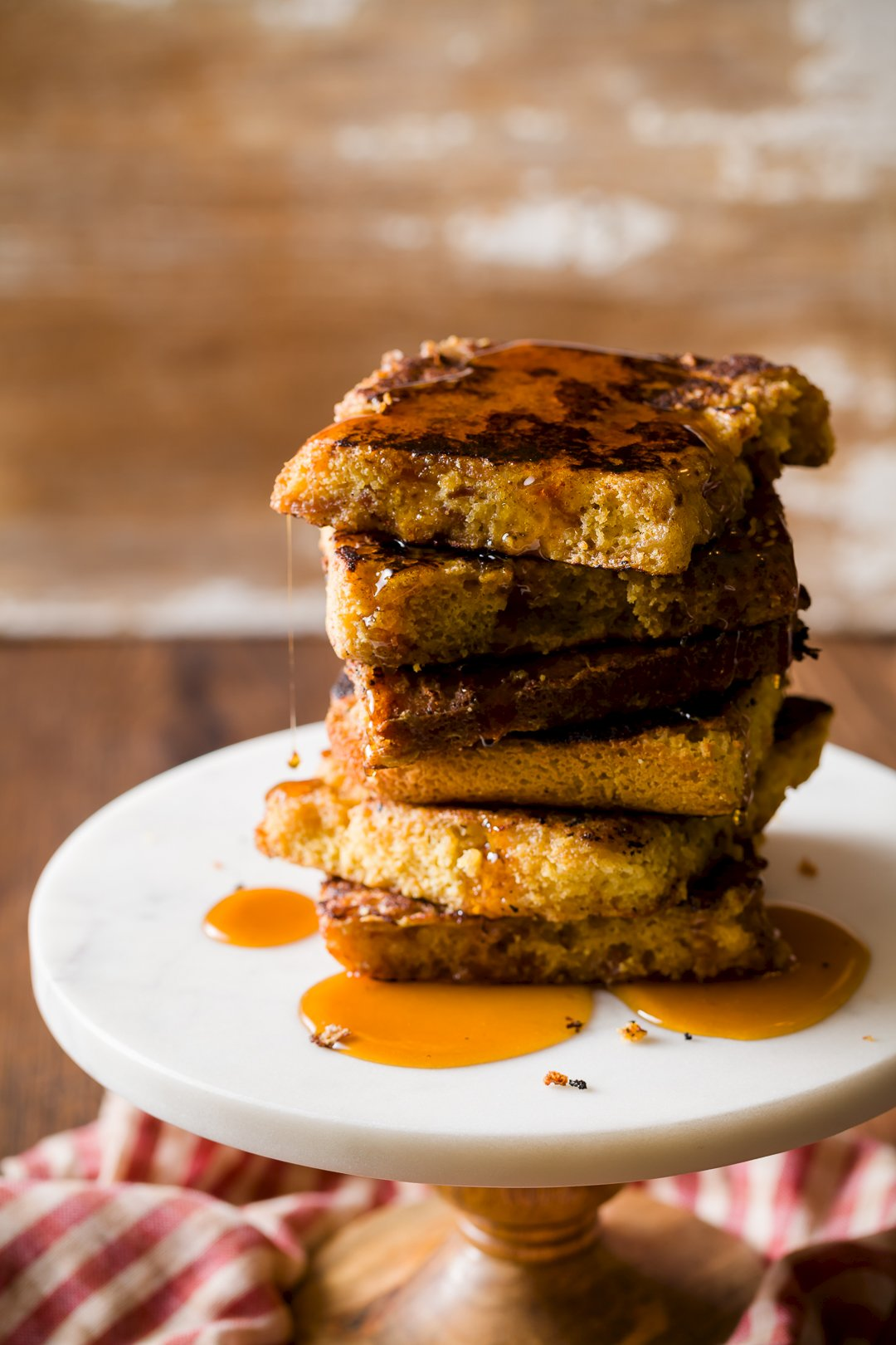 Maple Bacon Cornbread French Toast