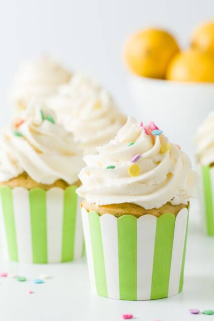 Lemon Ginger Power Cupcakes
