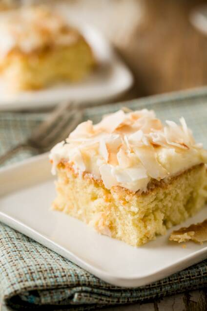 Slow Cooker Triple Coconut Cake