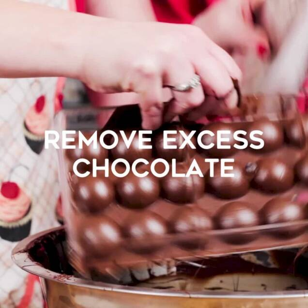 remove excess chocolate