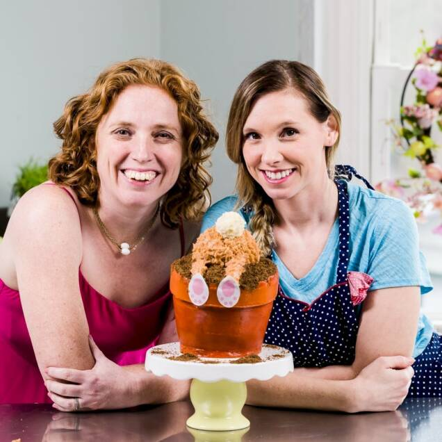 Easter Bunny Flowerpot Cake